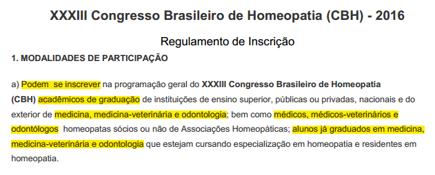 inscricao congresso homeopatia