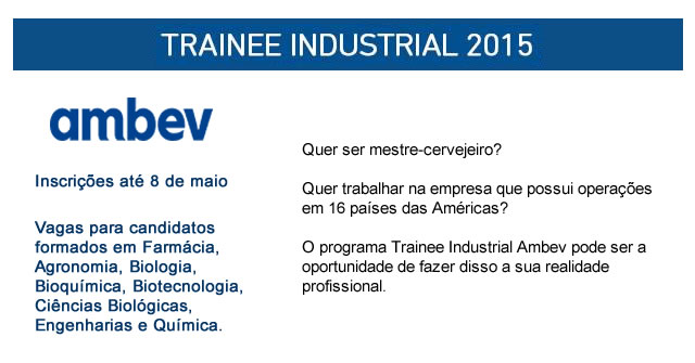 trainee industrial ambev 2015